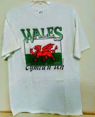 """Wales """"Cymru"""" Welsh Flag T-shirt by LePays International"""