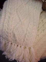 Aran Handknitted Scarf - Donegal Knits