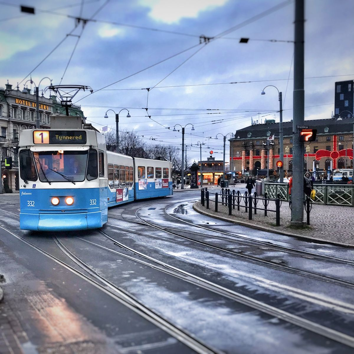 Gothenburg city centre and tram station