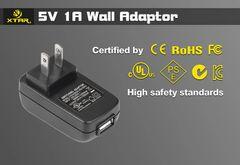 XTAR USB Wall Adapter - 1amp Output