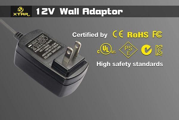 XTAR SP, VP, WP, XP4 Series Wall Adapter - 2 amp Output