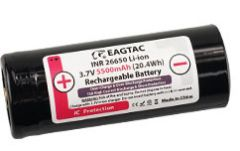 26650 5500mAh EAGTAC Li-ion Rechargeable Battery (1 pc) w/ CASE