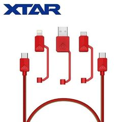 XTAR PDC-3 Extra Heavy Duty USB-C/Micro-USB/Lightning/USB 3.1 power Cord