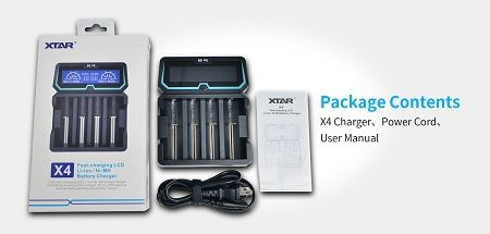 XTAR X4 Li-ion/NiMH/NiCD Intelligent Charger