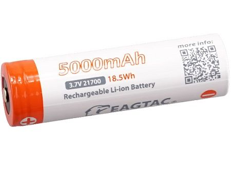 21700 5000mAh EAGTAC Li-ion Rechargeable Battery (1 pc)