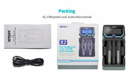 XTAR X2 Li-ion/NiMH/NiCD Intelligent Charger