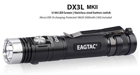 EagTac DX3L MKII CLICKY (RECHARGEABLE)