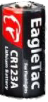 EagTac CR123 Battery (8-Pack)