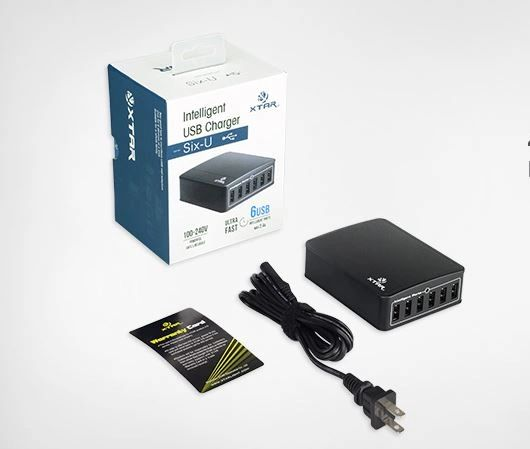 XTAR SIX-U U1 45W 6-Port USB Charger/Power Supply