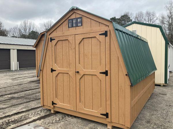 8 x 12 Wall Barn Cedar / Evergreen
