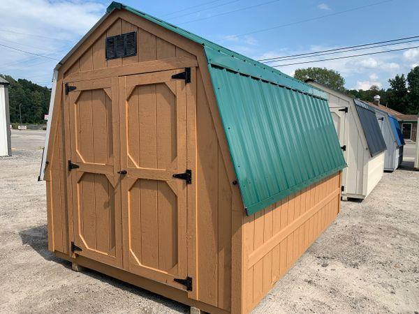 8 x 12 Wall Barn Cedar / Ivy Green