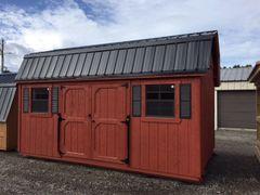 10x16 Cape Cod w/ Black Roof