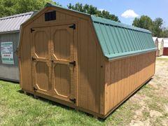 10x12 4' Wall Barn Cedar/Burnish Slate