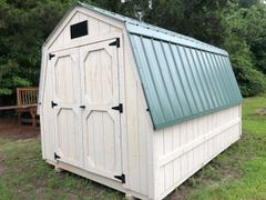8x12 Wall Barn Cottonwood/Evergreen