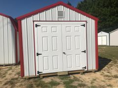 10x12 Metal A-Frame White/Red
