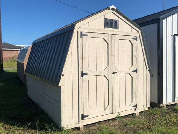 8x12 Cottonwood/Antique Bronze Wall Barn