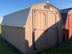 8x16 Pepperidge / Lightstone Wall Barn with Burglar bars