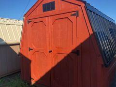 8x12 Cape Cod/ Black Wall Barn