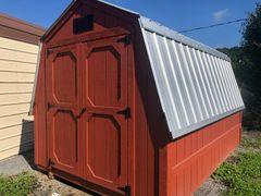 8x12 Cape Cod/ Galvalume Wall Barn