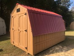 "8x12 Cedar/Green 32"" Wall Barn"