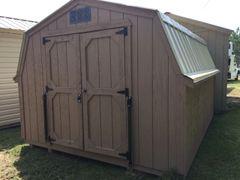 10x12 4' Wall Barn Pepperidge