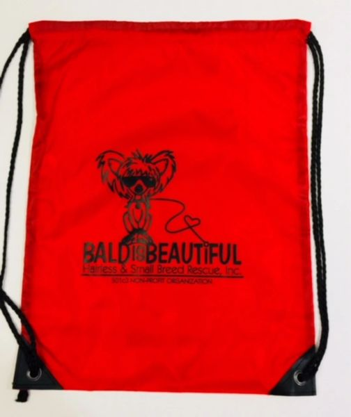 Bald is Beautiful Nylon Cinch Back Sack