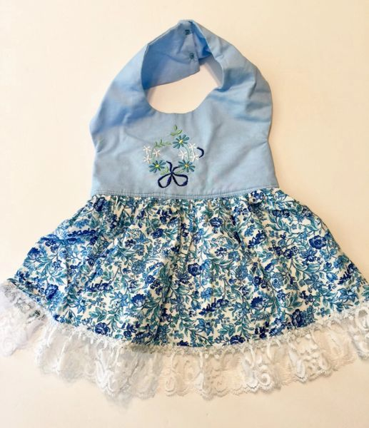 Blue Flowers Pet Dress - Small