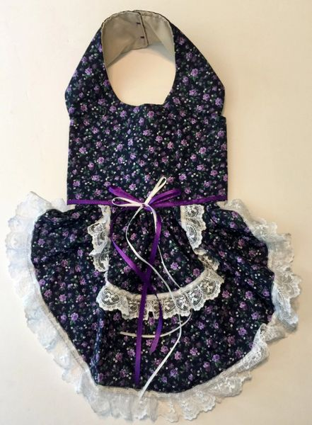 Navy and Purple Pet Dress - Small
