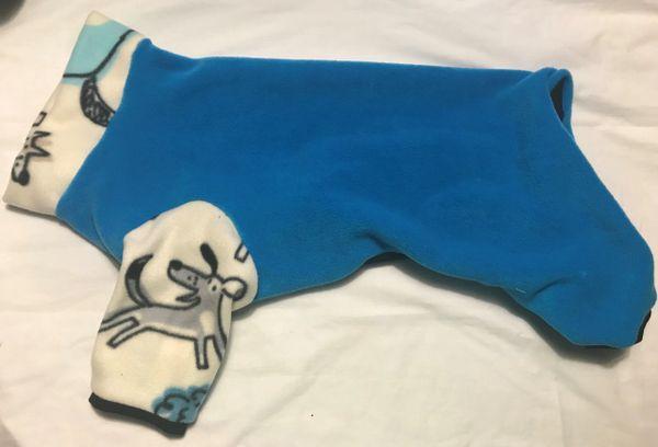 Aqua and Pups Fleece Pet Jammies - Extra Large