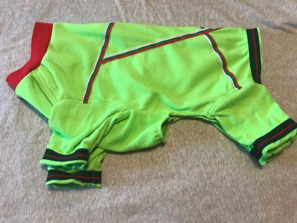 Neon Green Microfleece Pet Jammies - Roomy Large