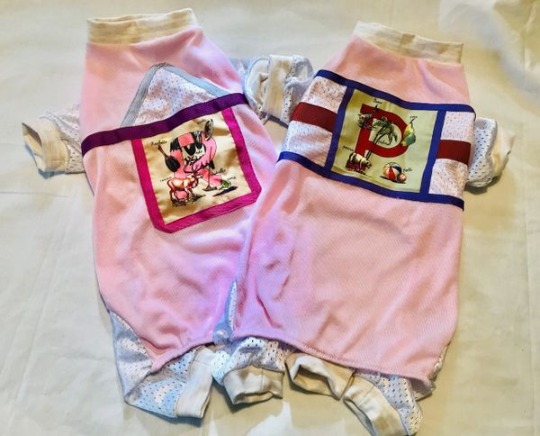 Pink Cotton Knit Pet Jammies - Assorted Roomy Fit Sizes
