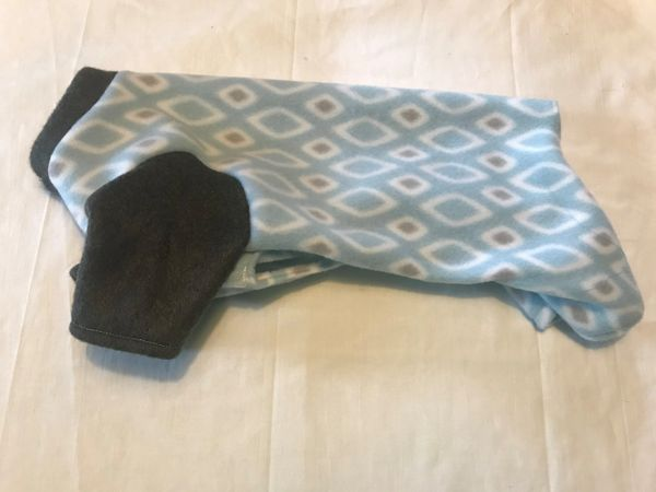 Geometric Blue Fleece Pet Jammie - Standard Extra Small