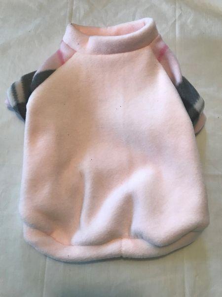 Light Pink Fleece Pet Shirt - ROOMY FIT Small