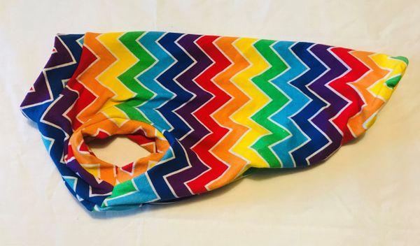 Rainbow Chevron Sleeveless Knit Pet Shirt - Small, Medium, Large
