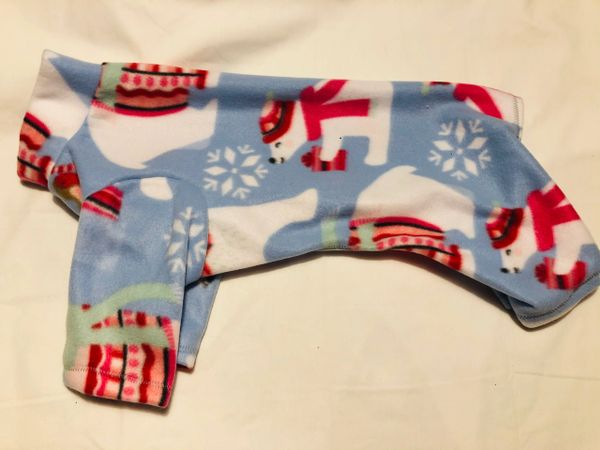 Polar Bears Fleece Pet Jammies - Various Sizes