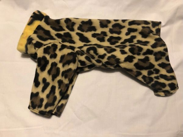 Cheetah Print Fleece Pet Jammie - Small