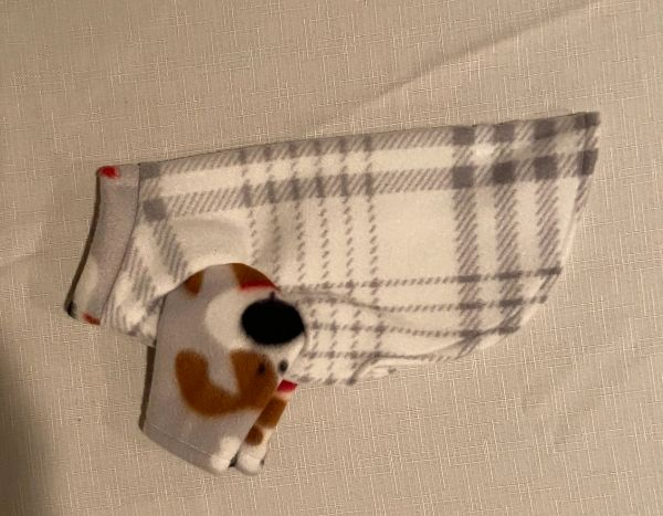 Gray Plaid Fleece Pet Shirt - Extra Small
