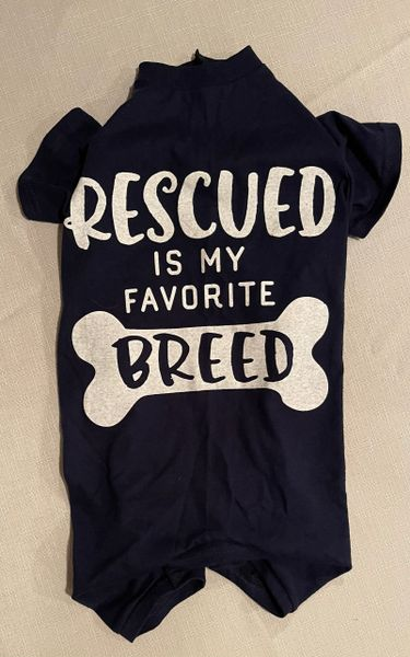Rescued is My Favorite Breed Tee Jammie - Standard Large