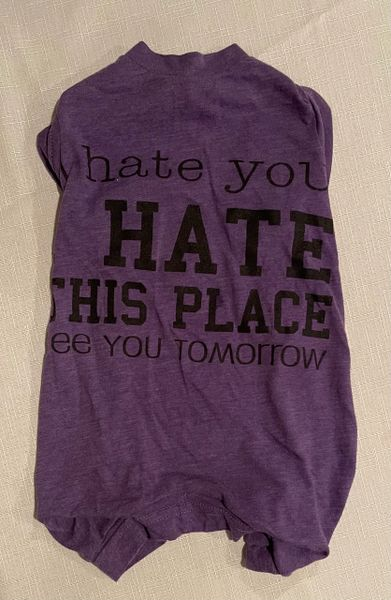 Hate This Place Sleeveless Tee Jammie - Standard Small