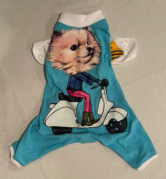 Puppy on a Scooter Tee Jammie - Standard Extra Small