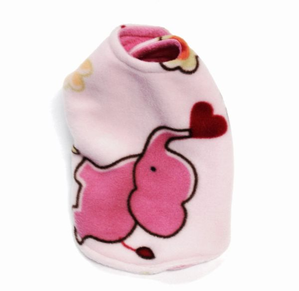 Pink Elephant Reversible Pet Coat - Extra Small