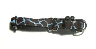 Adjustable Martingale Collar - Blue Giraffe - Small