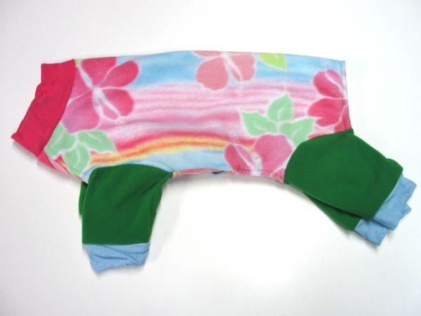 Watercolor Floral Fleece Pet Jammies - Roomy Assorted Sizes