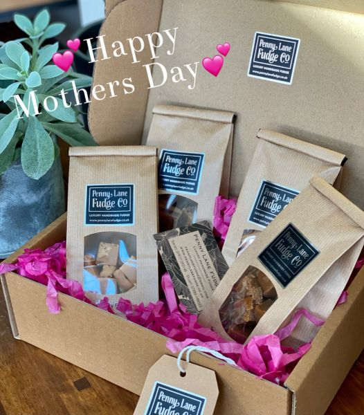 Mothers Day Luxury Handmade Fudge Gift Hamper (Gluten Free)