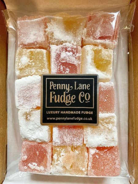 Traditional Turkish Delight in a Small Letterbox Gift Box (Vegan & Gluten Free)