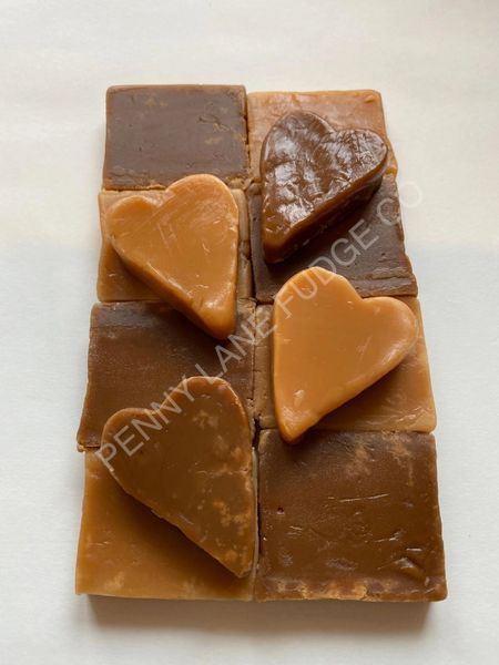 Small Fudge Heart Gift Box (Gift Wrapped, Gluten Free)