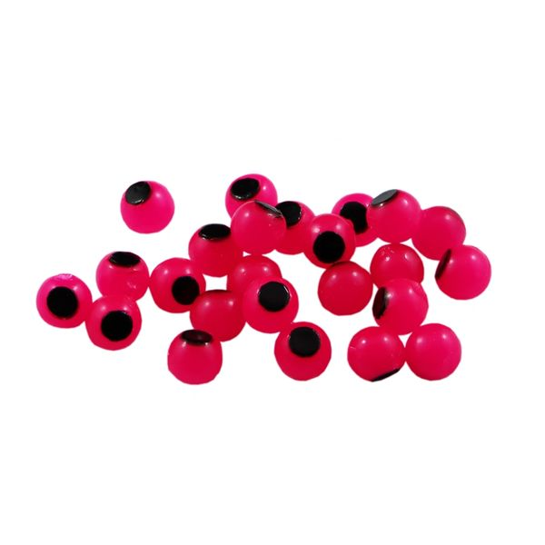 Embryo Soft Beads: Hot Pink with Black Dot