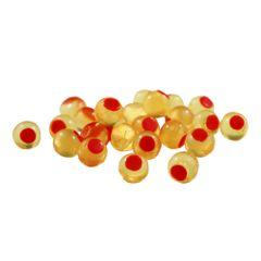 Embryo Soft Beads: Natural Orange with Red Dot