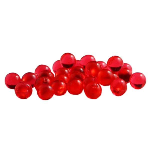 Clear Soft Beads: Red.