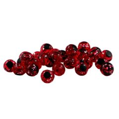 Glitter Bomb: Cherry Red with Black Dot